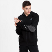 BMW MMS Hooded Sweat Jacket, Color: black, Material: cotton, polyester,