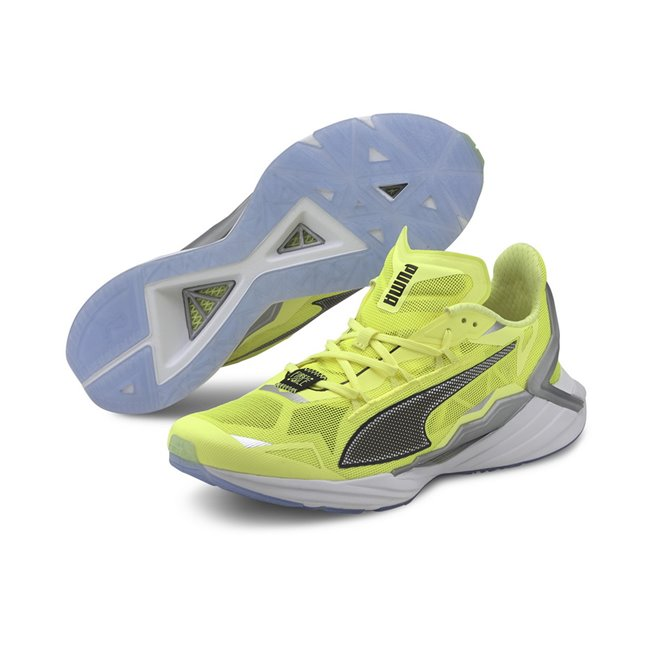 PUMA UltraRide FM Xtreme shoes, Color: yellow, black, silver, Material: mesh, The ULTRARIDE removes the superfluous and delivers a dynamic lightweight running shoe. This idea was born from reductionist theory, reimagining what
