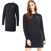 PUMA Nu-tility Crew Dress, Color: black, Material: cotton, elastane, Graphic Cat Logo rubber print on front Graphic PUMA wordmark rubber print centered on back Rib neckline Invisible center seam pocket for a convenient storage solution Relaxed fit Made with cotton from Better Cotton Initiative Made with OEKO-TEX®Standard.