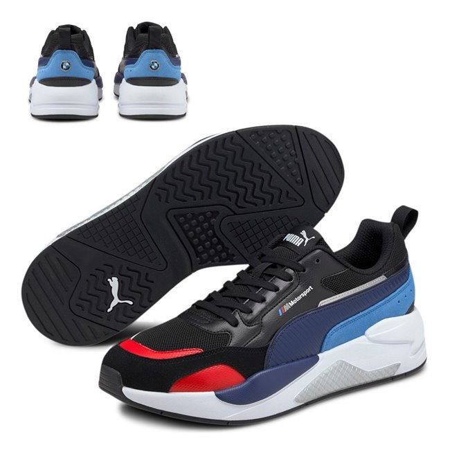 BMW MMS X-RAY 2.0 shoes, Colour: black, blue, Material: Upper: synthetic leather, Sole: rubber