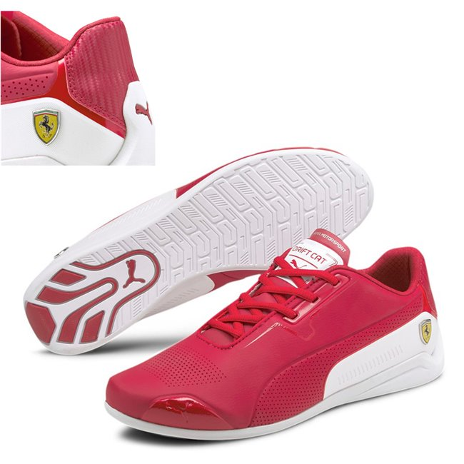 Ferrari Drift Cat 8 shoes, Colour: red, white, Material: Upper: synthetic leather, Sole: rubber