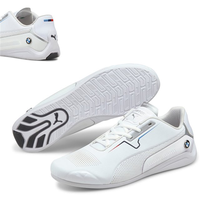 BMW MMS Drift Cat 8 shoes, Colour: white, white, Material: Upper: synthetic leather, Sole: rubber