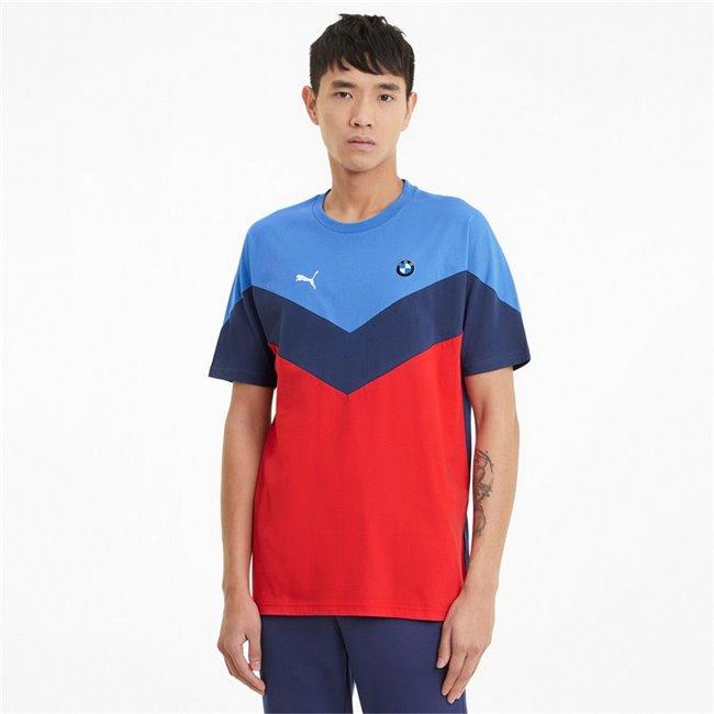 BMW MMS MCs Tee men T-Shirt, Colour: blue, blue, red, Material: cotton