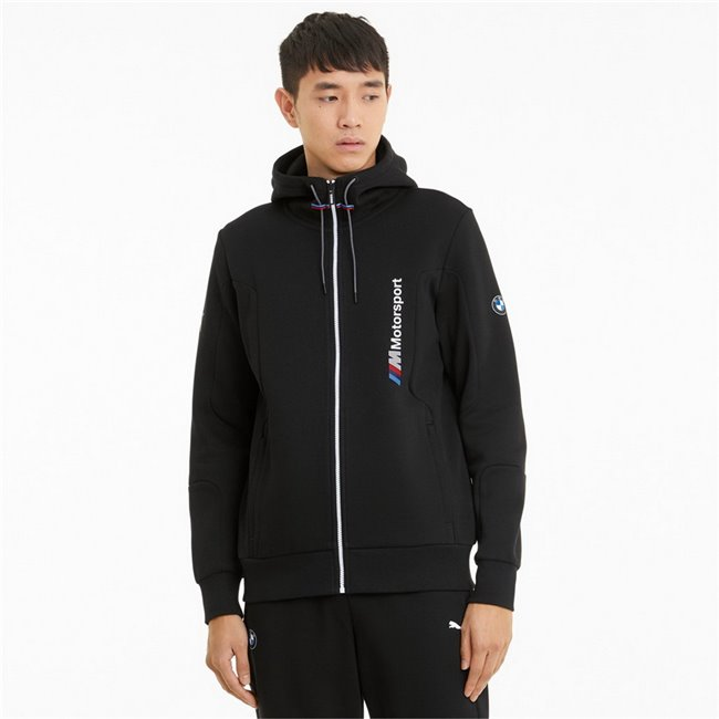 BMW MMS Hooded Sweat Jacket men hooded sweatshirt, Colour: black, Material: cotton, polyester