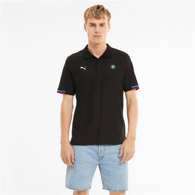 BMW MMS Polo men T-Shirt, Colour: black, Material: cotton, polyester