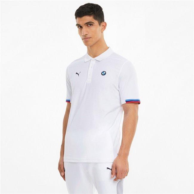 BMW MMS Polo men T-Shirt, Colour: white, Material: cotton, polyester