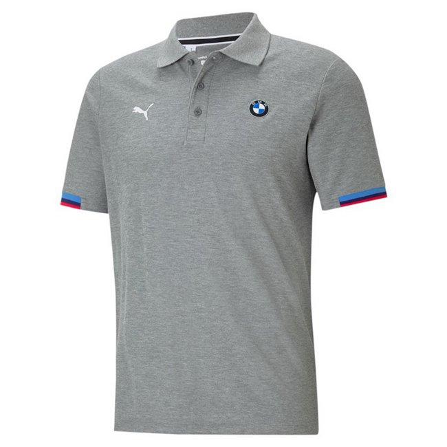 BMW MMS Polo men T-Shirt, Colour: gray, Material: cotton, polyester