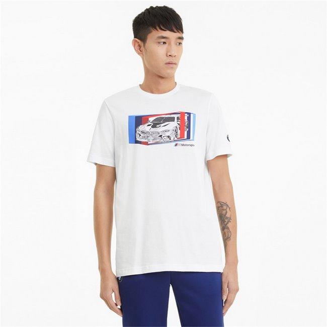 BMW MMS Car Graphic Tee men T-Shirt, Colour: white, Material: cotton