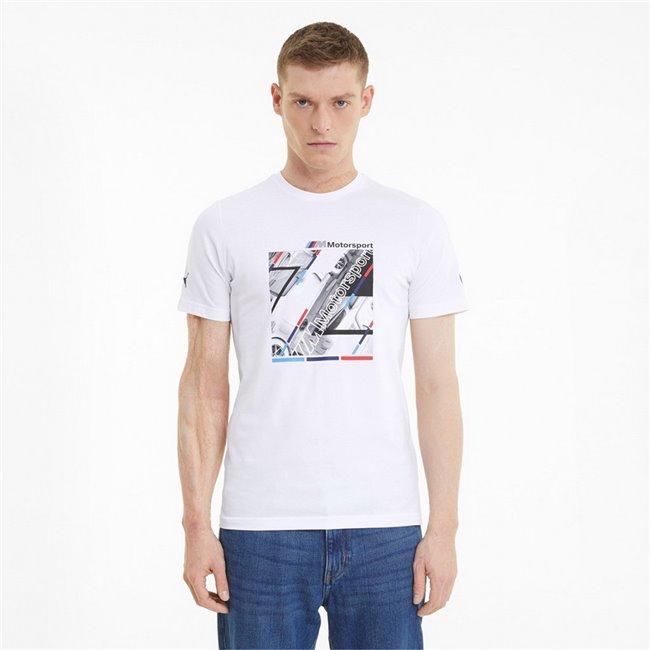 BMW MMS Graphic Tee men T-Shirt, Colour: white, Material: cotton