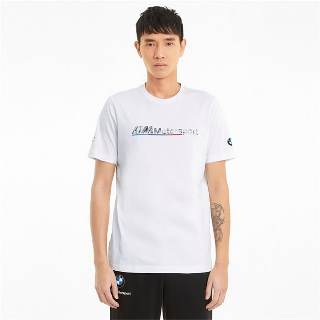 BMW MMS Logo Tee+ men T-Shirt, Colour: white, Material: cotton