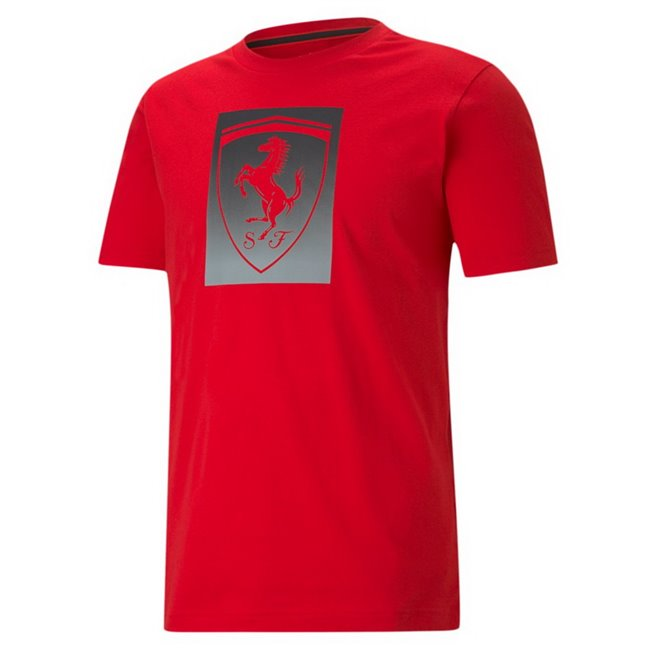 Ferrari Race Bg Shield color men T-Shirt, Colour: red, Material: cotton