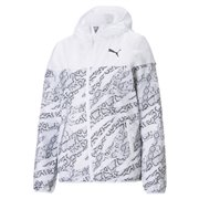 PUMA Essentials AOP Windbreaker women jacket, Colour: white, Material: polyester