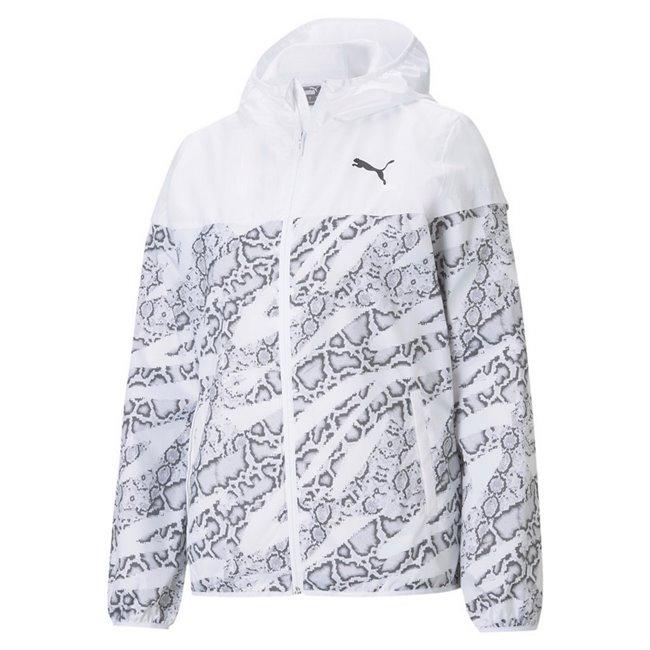 PUMA Essentials AOP Windbreaker women jacket, Colour: white, Material: polyester