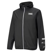 PUMA Essentials Rebel Windbreaker men jacket, Colour: black, Material: polyester