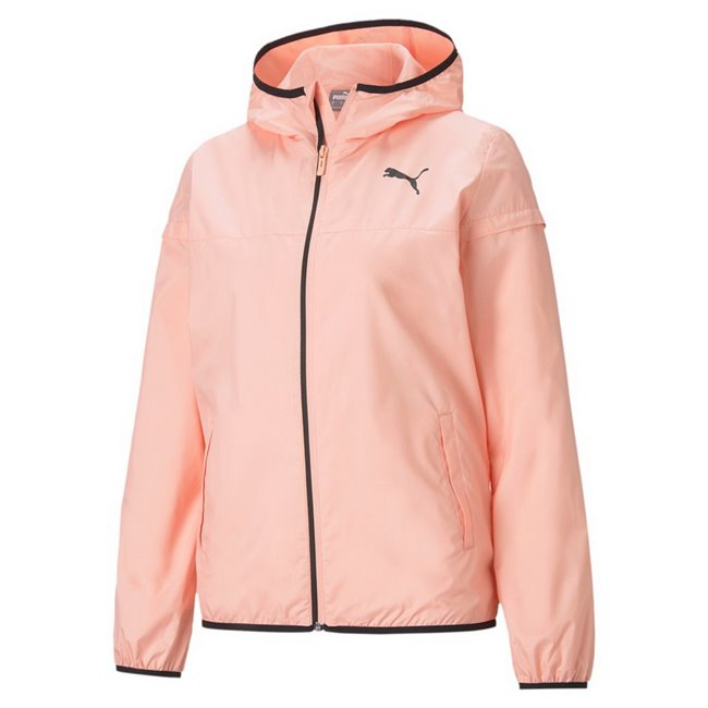 PUMA Essentials Solid Windbreaker women jacket, Colour: pale pink, Material: polyester