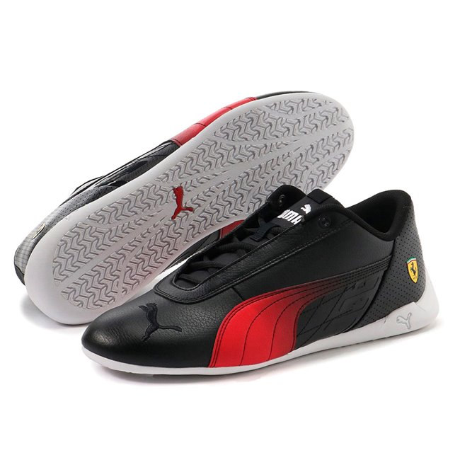 Ferrari R-Cat shoes, Colour: black, red, Material: Upper: synthetic leather, Sole: rubber