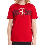 Ferrari Race Chcker Flag Tee men T-Shirt