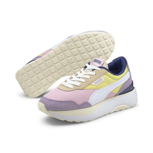 PUMA Cruise Rider Silk Road Wns women shoes, Colour: pink, yellow, Material: Upper: fabric, Midsole: IMEVA, Sole: rubber
