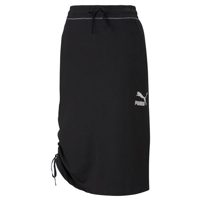 PUMA KONTRAST Midi Skirt Wmns women skirt, Colour: black, Material: cotton, polyester