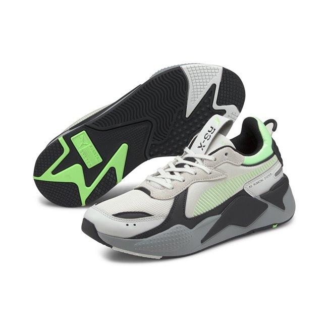 PUMA RS-X Mix shoes, Colour: light beige, black, Material: Upper: mesh, Midsole: PU, Sole: rubber