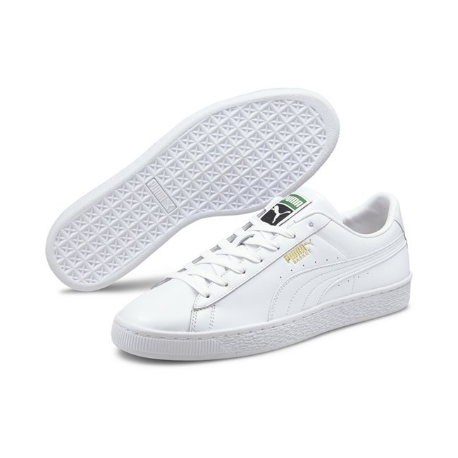 PUMA Basket Classic XXI shoes, Colour: white, white, Material: Upper: synthetic leather, Midsole: rubber, Sole: rubber