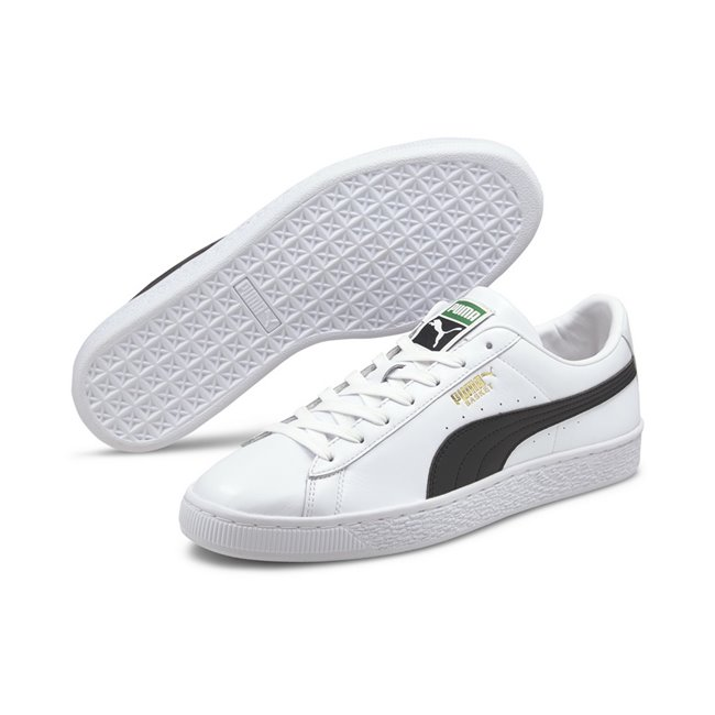 PUMA Basket Classic XXI shoes, Colour: white, black, Material: Upper: synthetic leather, Midsole: rubber, Sole: rubber