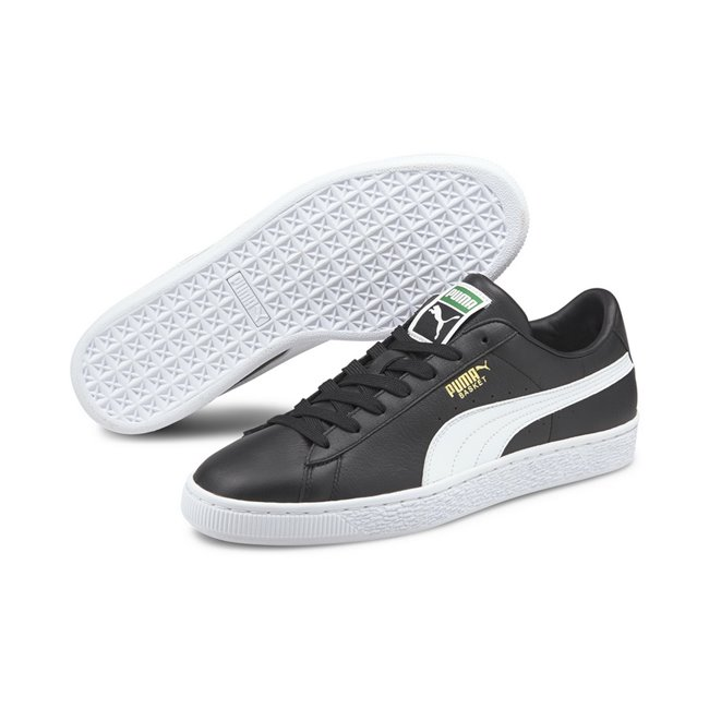 PUMA Basket Classic XXI shoes, Colour: black, white, Material: Upper: synthetic leather, Midsole: rubber, Sole: rubber