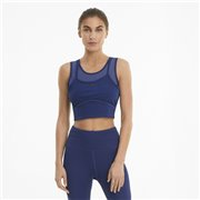PUMA STUDIO LAYERED CROP TOP women tank top