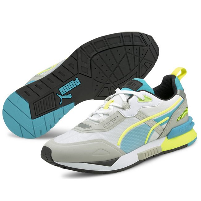 PUMA Mirage Tech shoes, Colour: gray-purple, white, Material: Upper: fabric, Midsole: EVA, Sole: rubber