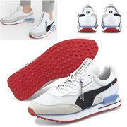 BMW MMS Future Rider shoes, Colour: white, black, red, Material: Upper: synthetic leather, Sole: rubber