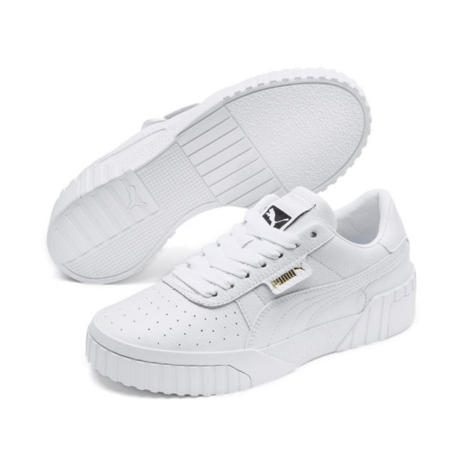 PUMA Cali Wns women shoes, Colour: white, white, Material: Upper: synthetic leather, Midsole: rubber, Sole: rubber