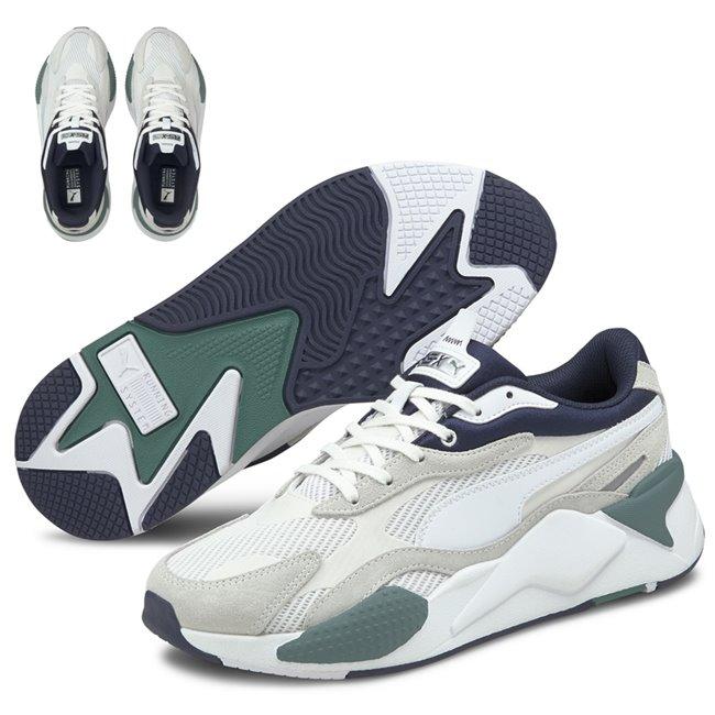 PUMA RS-X3 Twill AirMesh shoes, Colour: white, white, Material: Upper: mesh, Midsole: PU, Sole: rubber