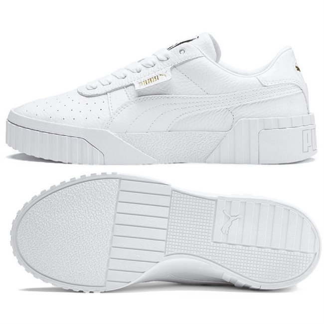 PUMA Cali wns, Color: white, Material: synthetic leather, leather, rubber