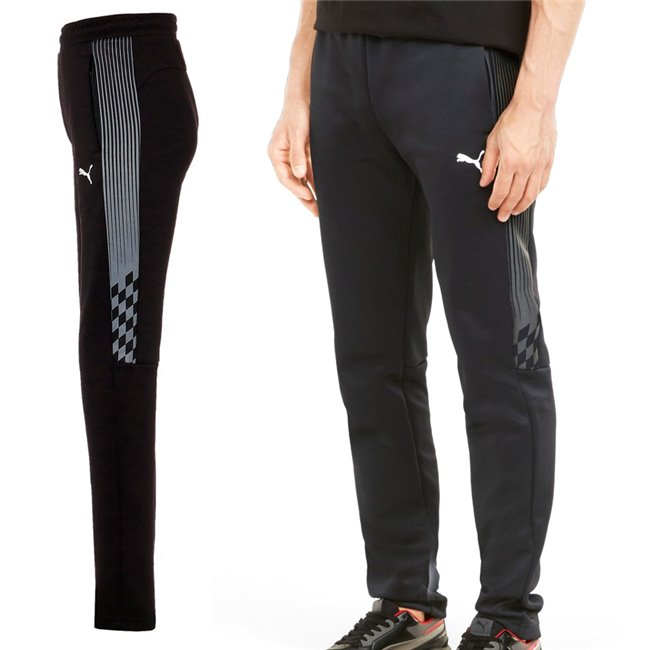 PUMA Ferrari Race T7 Track Pants, Color: black, Material: polyester, cotton