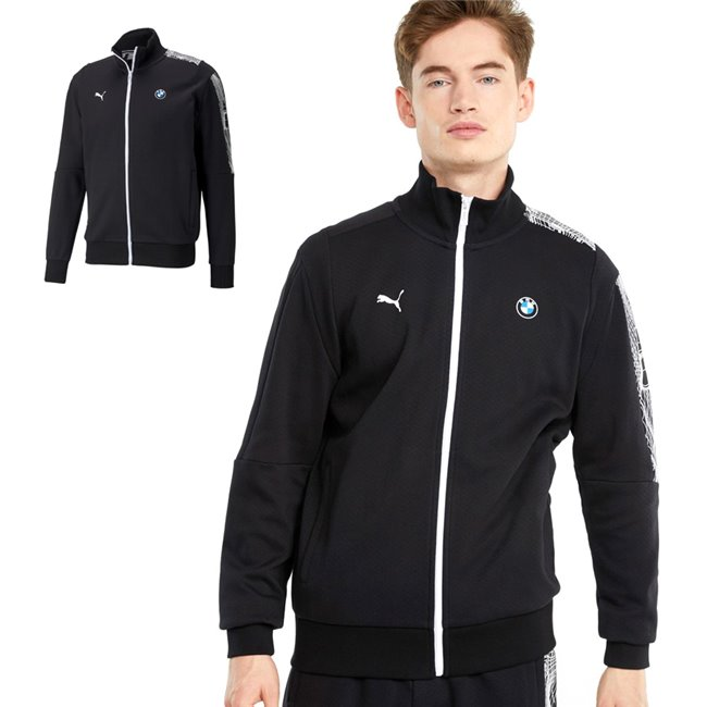 PUMA BMW MMS T7 Full-Zip, Color: black, Material: cotton, polyester