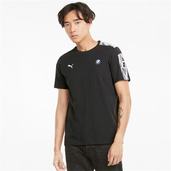 PUMA BMW MMS T7 Tee, Color: black, Material: cotton