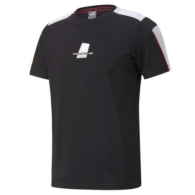 PUMA Porsche PL T7 Tee, Color: black, Material: cotton