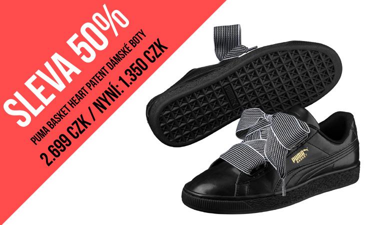 SALE 50% - PUMA Basket Heart dámské boty