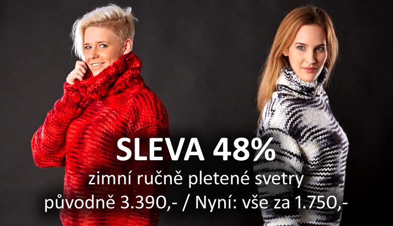 Sleva 48% - Zimní ručně pletené svetry
