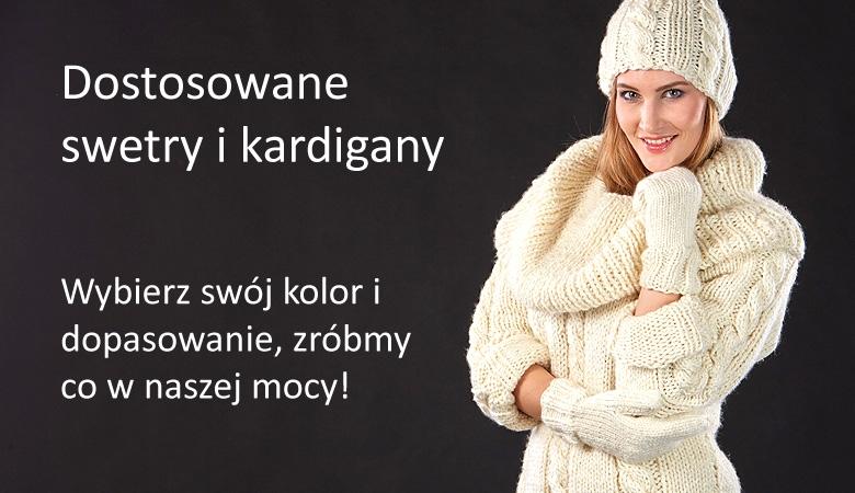 Dostosowane swetry i kardigany